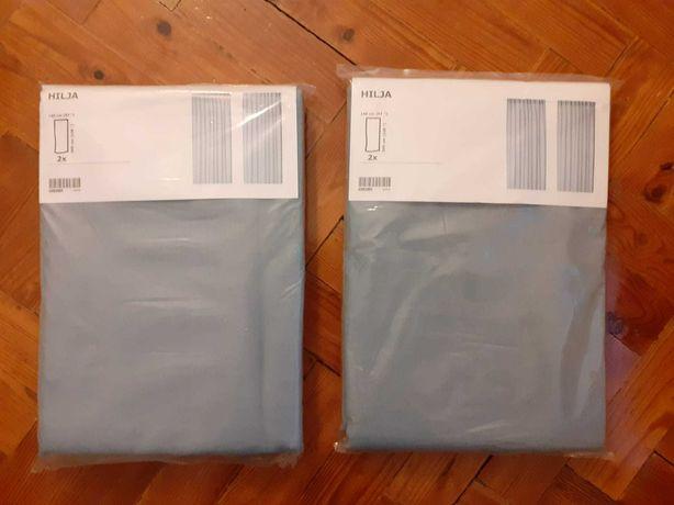 2 pares de Cortinados HILJA do IKEA novos, nunca foram utilizados!