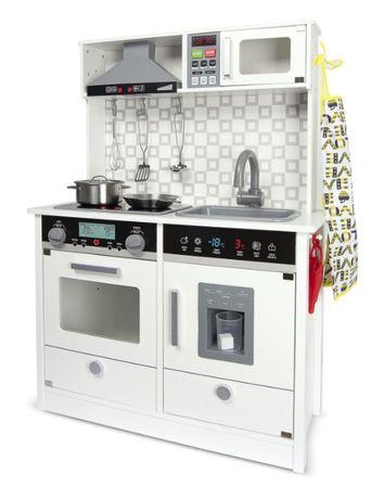Drewniana elektroniczna kuchnia dla dzieci White Modern 102/246241