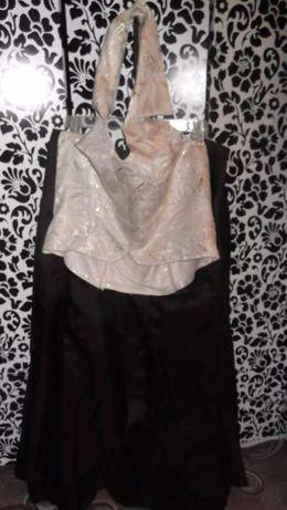 Suknia wieczorowa balowa studniówkowa gorset+spódnica+ szal rozmiar 46