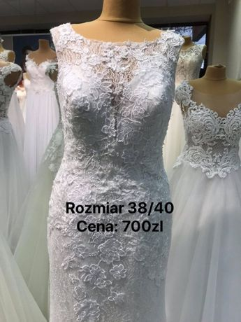 Suknia ślubna - wyprzedaż NOWE - 70 %