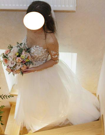 Suknia ślubna Milla Nova 34 36 blyszczaca Madonna