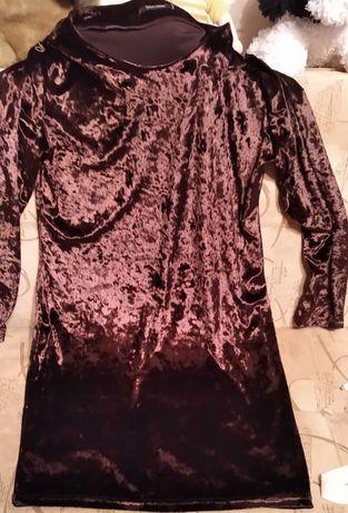 Женское платье 46 р. с длинными рукавами