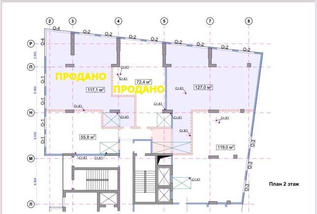 Продажа нового офиса в парковой зоне, ЖК CENTRAL PARK, 2 этаж, 55 м2