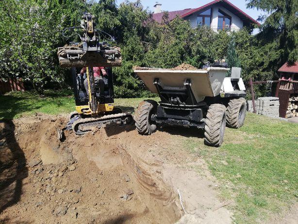 Usługi minikoparką , walcem , wozidłem , prace ziemne , traktorek
