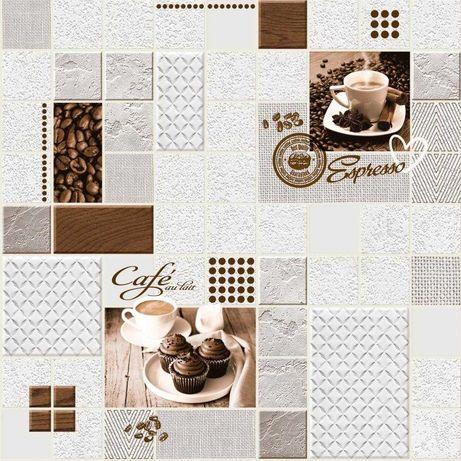 Tapeta ścienna zmywalna do kuchni kawa napisy filiżanka