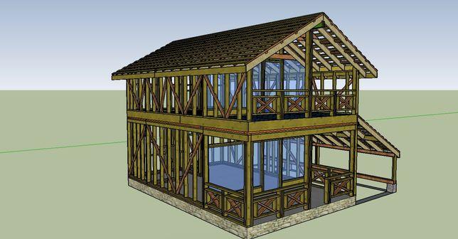 Проект каркасного дома под заказ