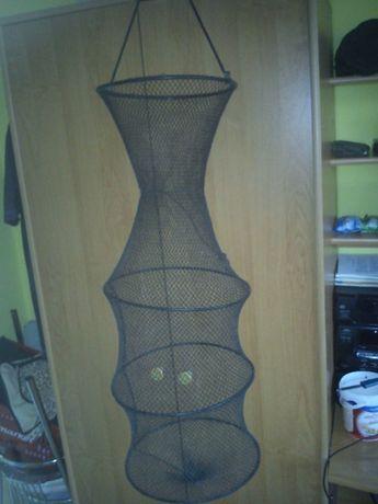 Siatka wędkarska,80 cm/ 25cm, czarna, nylon.