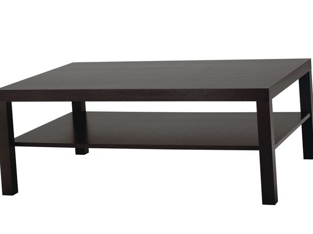 Журнальный стол Ikea LACK ЛАКК 118x78 см  черно-коричневый