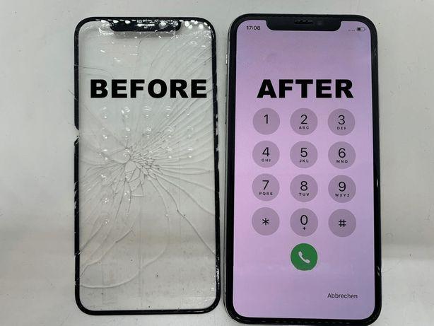 Wymiana zbitej szyby szybki iphone6/6+/6s/6s+/7/7+/8/8+/X Xs Xr XsMax