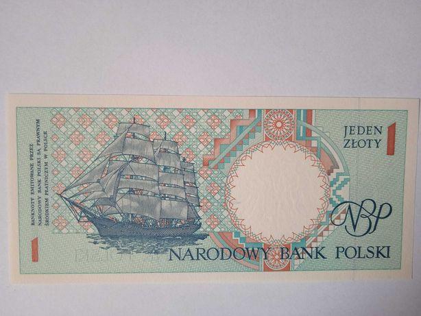 Banknot z serii miasta polskie UNC