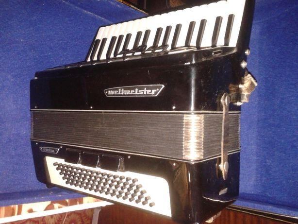 аккордеон вельтмайстер стелла 3\4 на 80 басов.