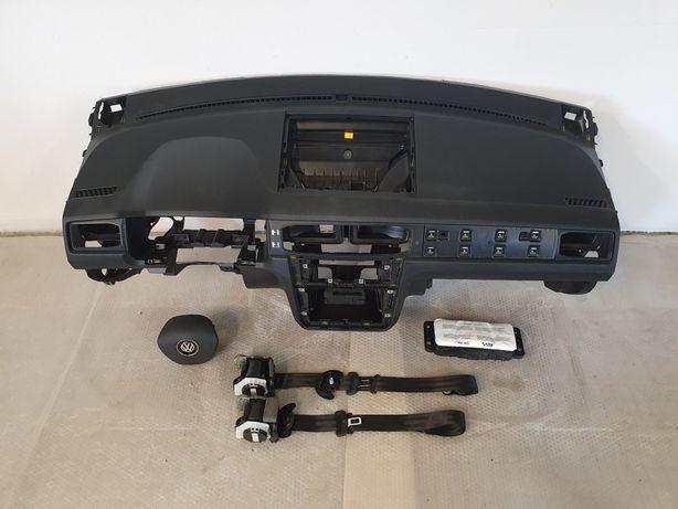 Deska rozdzielcza konsola airbag pasy VW Caddy
