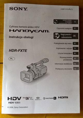 Instrukcja obsługi do kamery SONY HDV HDR-FX1E w języku polskim