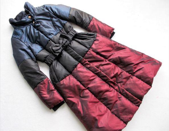 Płaszcz puchowy pikowany ciepły kobiecy S