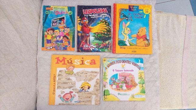5 livros infantis diversos