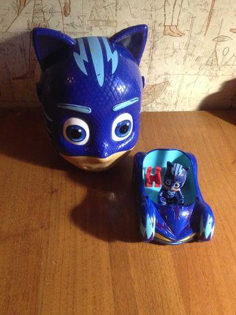 Игрушка набор Герои в масках Кетбой, кейс-ведёрко и машина