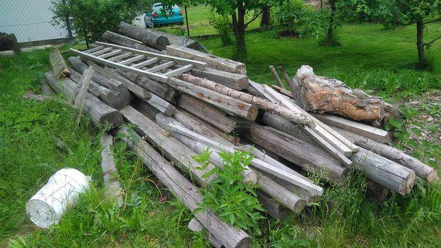 Drewno, belki na opal z rozbiorki- rezerwacja do wtorku