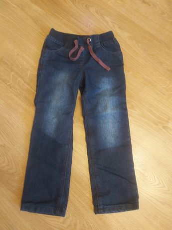 Spodnie jeans ocieplane na podszewce lupilu rozm 110