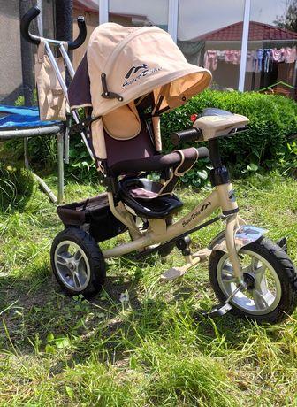 Дитячий триколісний велосипед з батьківською ручкою Super Trike