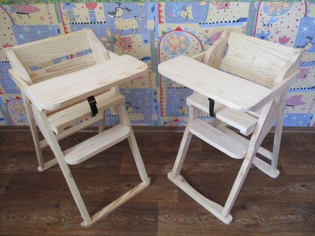 Деревянный стульчик для кормления, раскладной