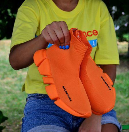 Balenciaga speed trainer Orange женские кроссовки баленсиага трейнер