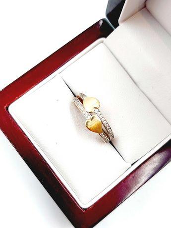 Nieużywany złoty Pierścionek Pr: 585 Waga: 2,16 G R.15 Plus Lombard