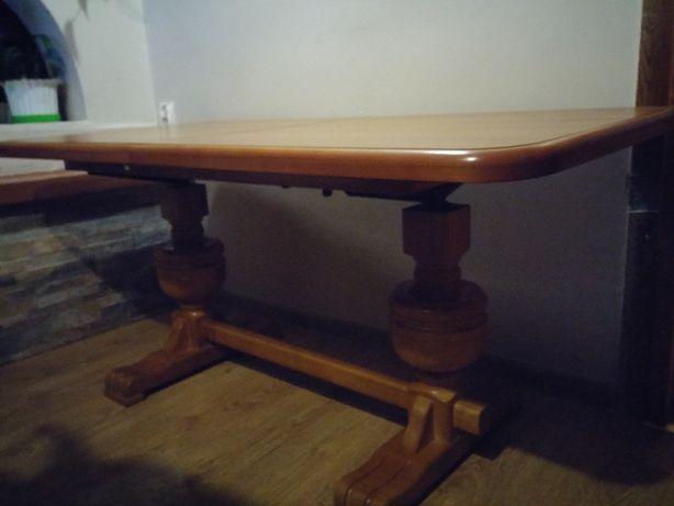 Ławostół rozsuwany 136x67 ładny Stan Stół ława z regulowaną wysokością