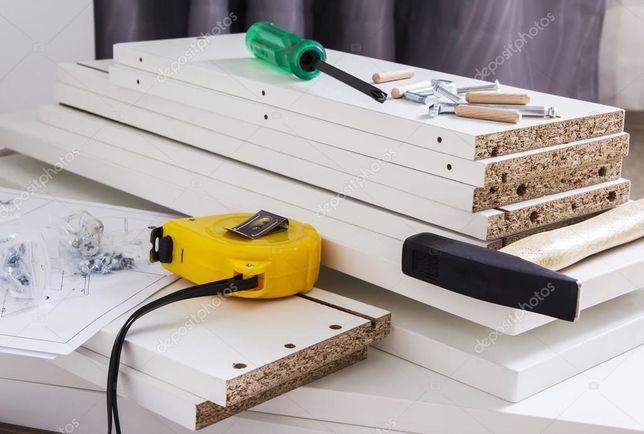 Бригада СПЕЦИАЛИСТОВ по сборке мебели любой сложности и конфигурации