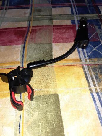 Автодержатель для телефона с USB зарядкой через прикуриватель