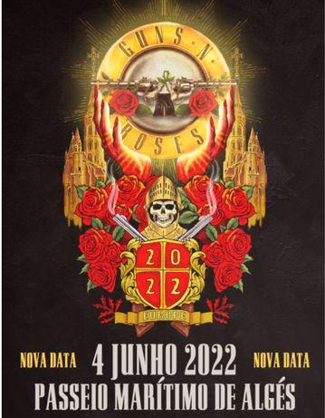 Bilhete Golden Circle Concerto Guns N'Roses Lisboa 2022