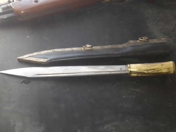 Nóż, saks ręcznie robiony, kuty, rekonstrukcja, wiking, słowianin