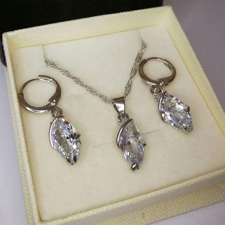 Nowy komplet biżuterii z kryształkami