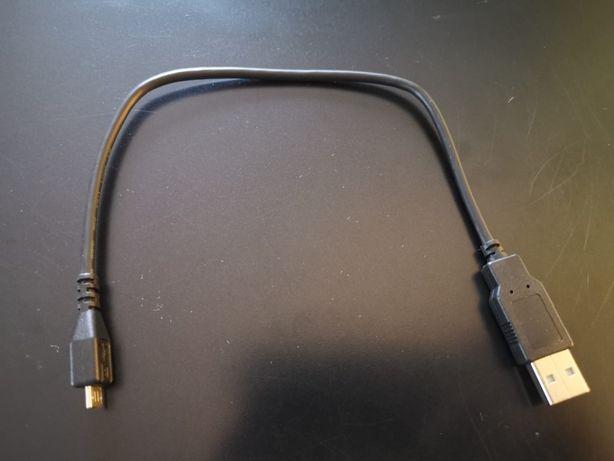Mocny kabel micro USB 30cm czarny