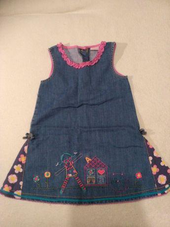 Sukienka dziewczynka jeans dżins Rozmiar 2-3 lata święta impreza