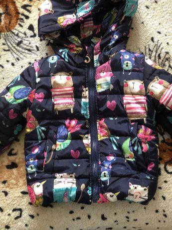 Куртка на дівчинку 1-1,5-2 роки