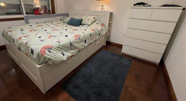 Cama Casal IKEA Brimnes