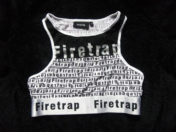 Top sportowy Firetrap croptop bokserka fitness do ćwiczeń 38,M/40,L