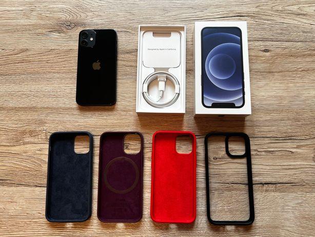 iPhone 12 mini black / czarny 256 GB -stan idealny, na gwarancji +etui