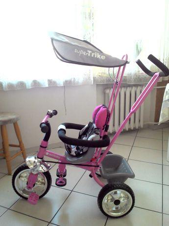 Rower dziecięcy trójkołowy Sun Baby Super Trike różowy JO1.004.1.3