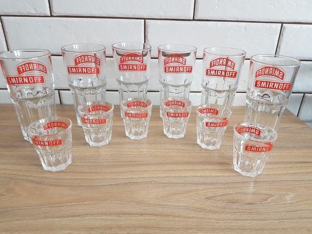 Smirnoff  szklanki +kieliszki zestaw