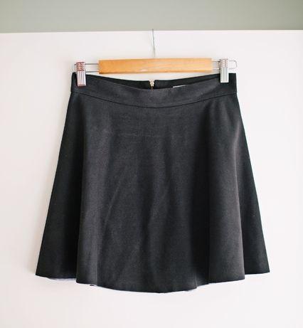 Cinamoon czarna zamszowa rozkloszowana spódniczka S