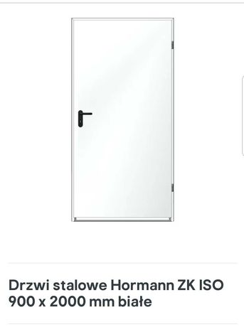 Drzwi stalowe 90x200 białe Nowe