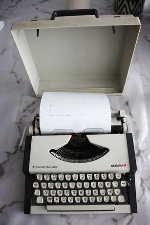 Máquina de escrever olympia traveller de luxe
