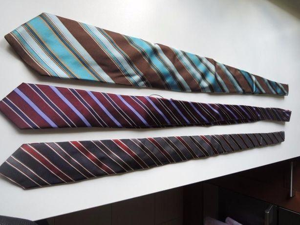 Jedwabny krawat męski - 3 sztuki w komplecie!!! Promocja!