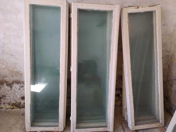 Skrzydła okienne, drewniane, białe, 34 szt