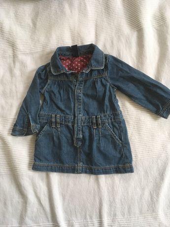 Sukienka jeans zara baby