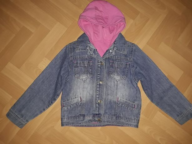 Kurtka jeans z bezrękawnikiem 7 lat