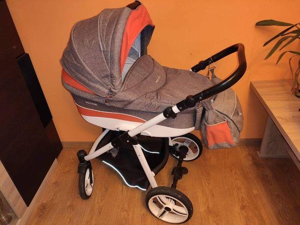 Wózek dziecięcy Bebetto Vulcano 3 w 1, czerwony, fotelik, gondola