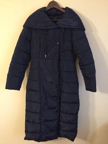 Płaszcz Carry taliowany granatowy zimowy M