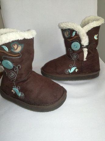 Śniegowce 29 buty zimowe dziecięce ciepłe dziewczęce wysokie Emu Ugg